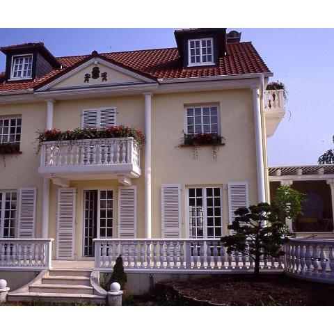 Exklusive Außengestaltung: Villa mit Balustraden und Säulen - TRAX