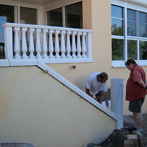 Montage einer Balustrade